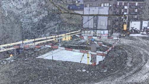 Beton für das neue Schulhaus