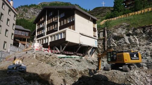 Stützkonstruktion für das Schulhaus Walka III